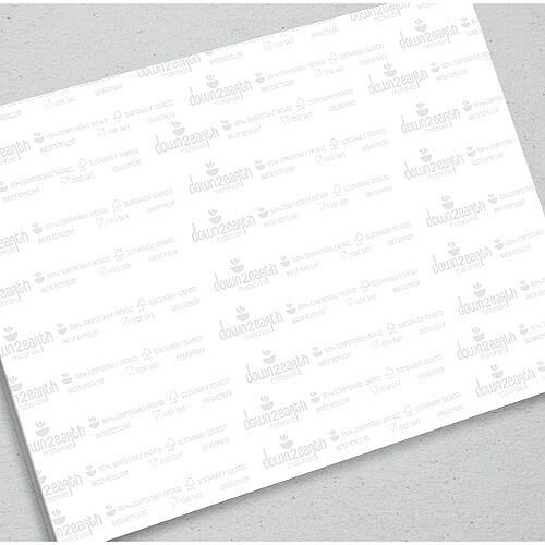 250x330mm Eco-Branded Greaseproof Paper Sheets Pack of 250