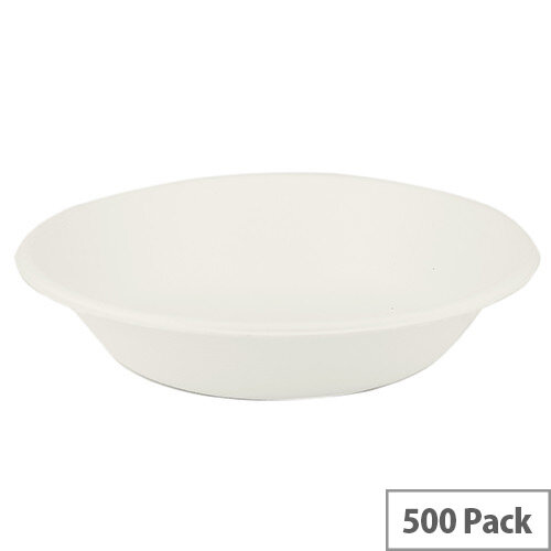 Compostable 12oz/340ml Disposable Bagasse Bowls Pack of 500
