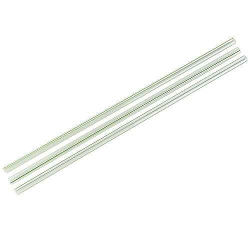 Compostable PLA 5mm Dia. Green Stripe Straws Pack of 4800