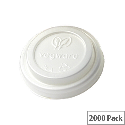 62mm Compostable CPLA Hot Cup Lids for 4oz Disposable Cups Pack of 2000