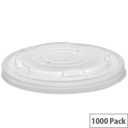 Compostable 90mm Flat Bio Lids For Disposable 6-10oz Soup Containers Pack of 1000