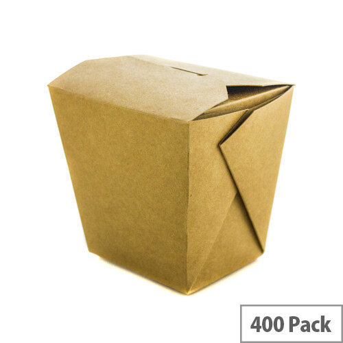 Disposable 32oz Brown Kraft Noodle Boxes Pack of 400