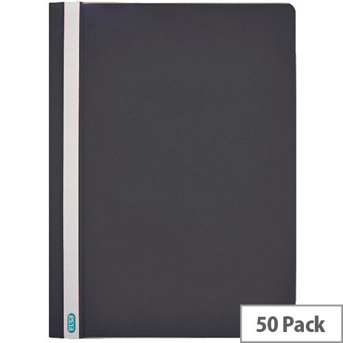 Clearview Flat File Folder A4 Black Pack of 50 Durable 2573/01