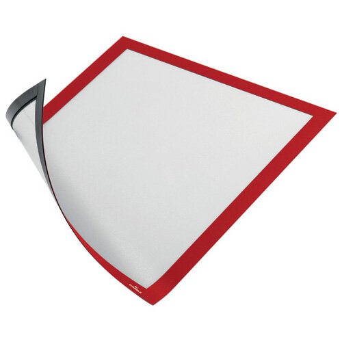 Durable Duraframe Magnetic A4 Red Pack of 5 486903