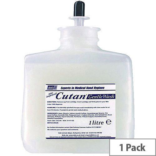 Deb Cutan Wash Lotion Soap Peach 1Litre Refill Cartridge (Pack 1)
