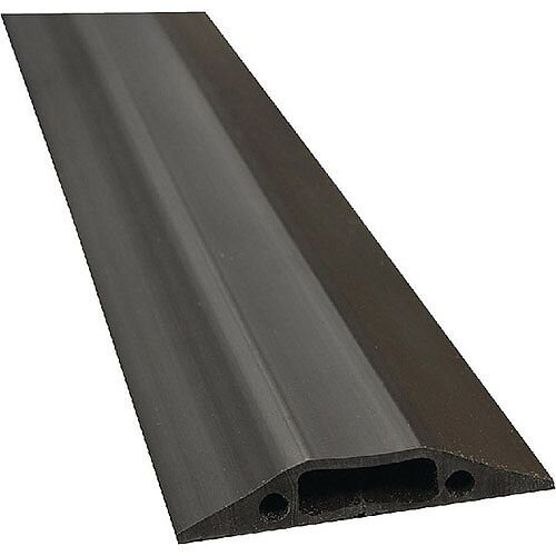 Floor Cable Cover Black 80mm Wide 1.8 Meters in Length C/W Connectors. Ideal For Use In Offices, Warehouses, Classrooms &More.