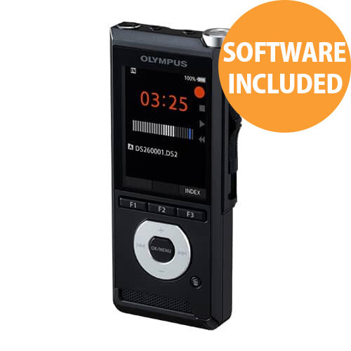 "Olympus DS-2600 Digital Voice Recorder Dictaphone with Slide Switch, 2GB Internal Memory, 2.4"" Full Colour Display"