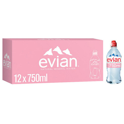 Evian Natural Mineral Water 75cl Bottle Pack of 12 60735