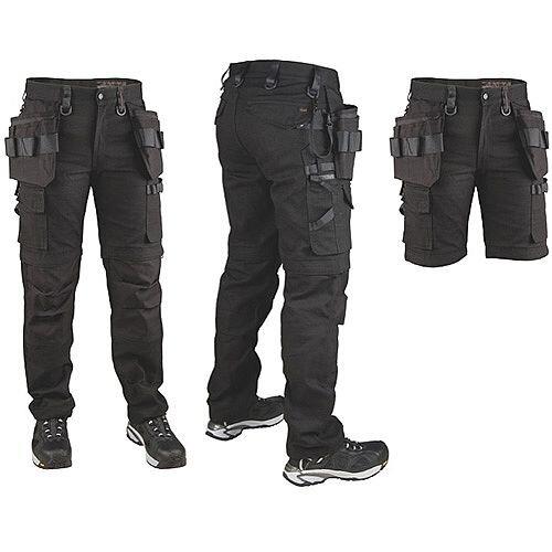 Snickers P7 Canvas Trousers Black C48W31L30 DW1