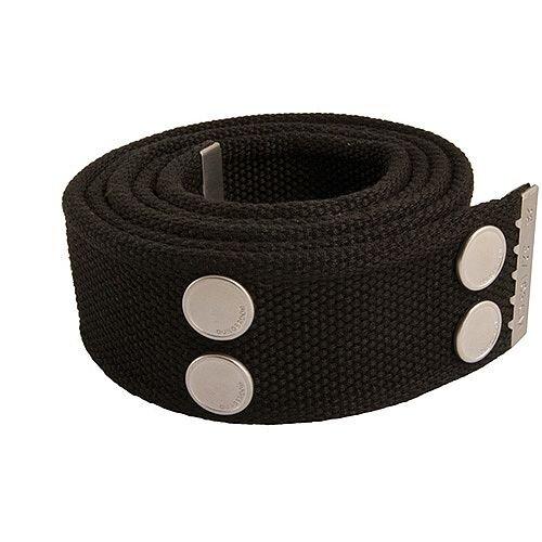Snickers Canvas Belt Black &Silver Size 33 &42 DW7