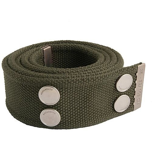 Snickers Canvas Belt Olive &Silver Size 33 &42 DW7
