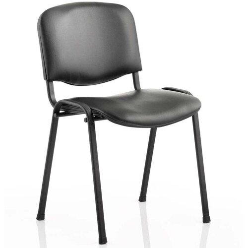 ISO Stacking Chair Black Vinyl Black Frame