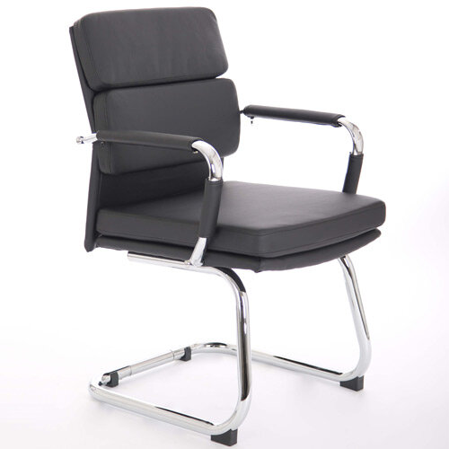 Advocate Boardroom &Visitor Chair Black Bonded Leather With Arms