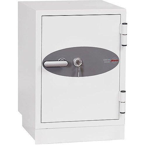 Phoenix Datacare DS2002K Size 2 Data Safe with Key Lock White 17L 90min Fire Protection