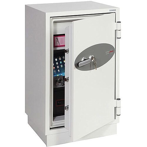Phoenix Datacombi DS2502K Size 2 Data Safe with Key Lock White 84L 90min Fire Protection