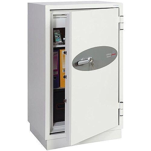 Phoenix Datacombi DS2503K Size 3 Data Safe with Key Lock White 145L 120min Fire Protection