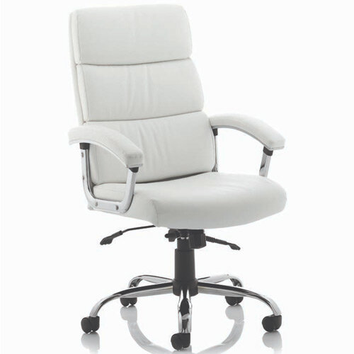 Desire High Executive Office Chair White With Arms