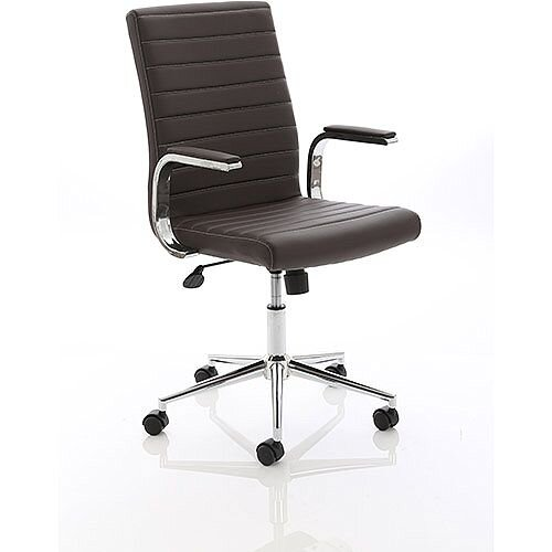 Ezra Executive Brown Leather Office Chair