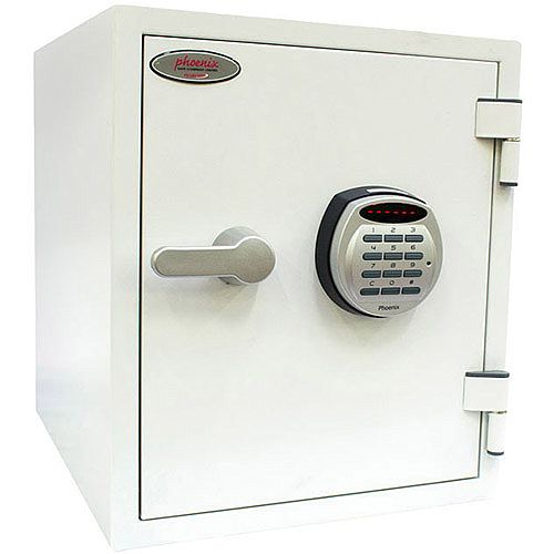 Phoenix Titan FS1282E Size 2 Fire &Security Safe with Electronic Lock White 25L 60mins Fire Protection