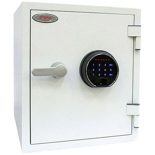 Phoenix Titan FS1282F Size 2 Fire &Security Safe with Fingerprint Lock White 25L 60mins Fire Protection