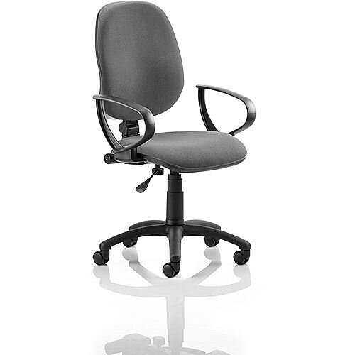 Eclipse I Lever Task Operator Office Chair Charcoal With Loop Arms