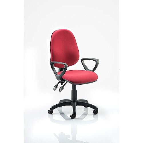 Eclipse II lever Task Operator Office Chair Wine With Loop Arms