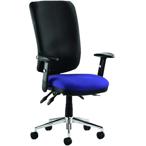 Chiro High Back Task Operator Office Chair Serene Blue Seat