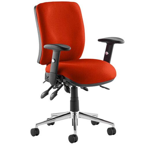 Chiro Medium Back Task Operator Office Chair Pimento Rustic Orange