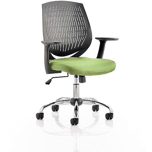 Dura Medium Back Task Operator Office Chair Swizzle Green