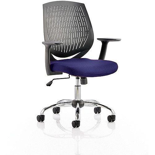 Dura Medium Back Task Operator Office Chair Serene Blue