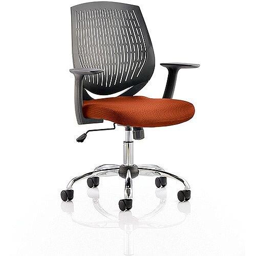 Dura Medium Back Task Operator Office Chair Pimento Rustic Orange