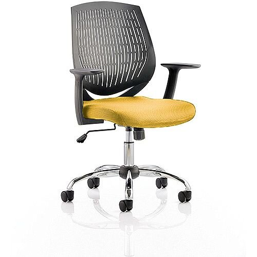 Dura Medium Back Task Operator Office Chair Sunset Yellow