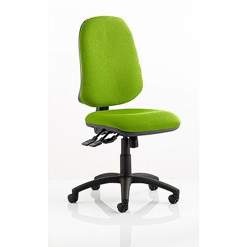 Eclipse XL III Lever Task Operator Office Chair Swizzle Green