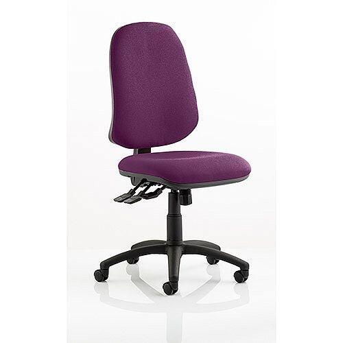 Eclipse XL III Lever Task Operator Office Chair Purple