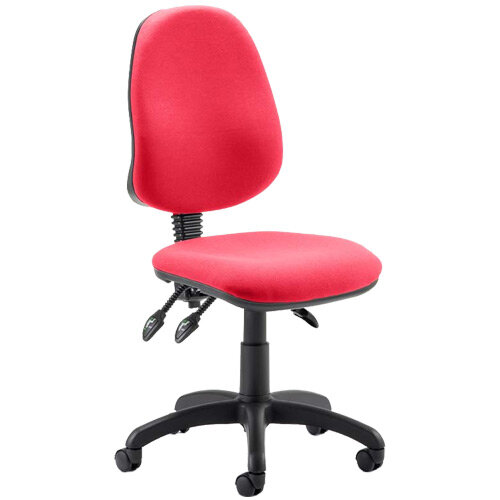 Eclipse III Lever Task Operator Office Chair Cherry Red