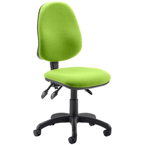 Eclipse III Lever Task Operator Office Chair Swizzle Green