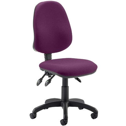 Eclipse III Lever Task Operator Office Chair Purple