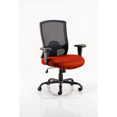 Portland HD Mesh Back Task Operator Office Chair Pimento Rustic Orange