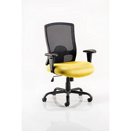 Portland HD Mesh Back Task Operator Office Chair Sunset Yellow