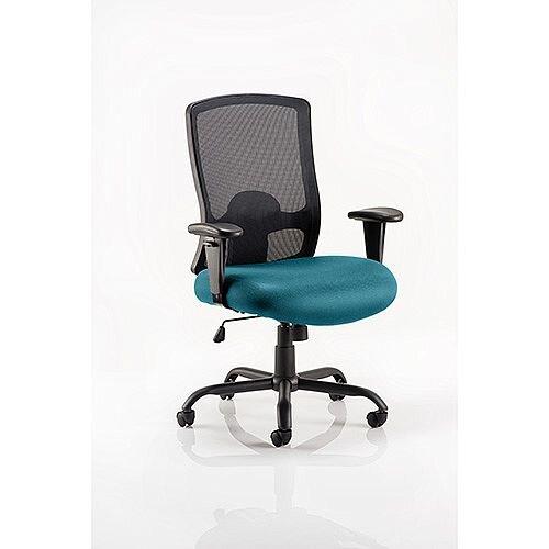 Portland HD Mesh Back Task Operator Office Chair Kingfisher Green