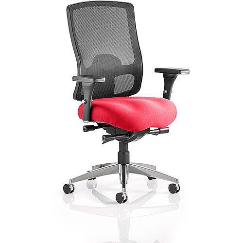 Regent High Mesh Back Task Operator Office Chair Cherry Red