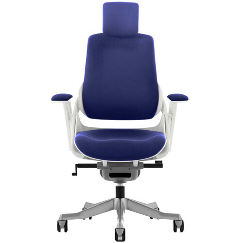 Zure High Back Executive Office Chair With Arms &Headrest Serene Blue