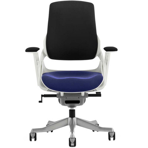 Zure High Back Executive Office Chair Black Back &Serene Blue Seat