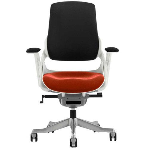 Zure High Back Executive Office Chair Black Back &Pimento Rustic Orange Seat