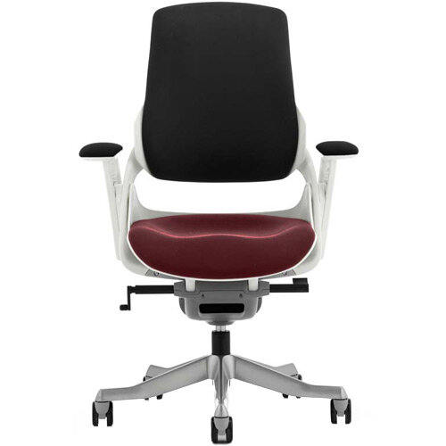 Zure High Back Executive Office Chair Black Back &Chilli Red Seat