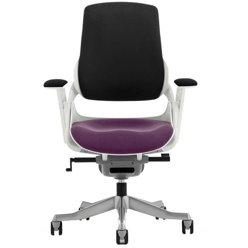 Zure High Back Executive Office Chair Black Back &Purple Seat