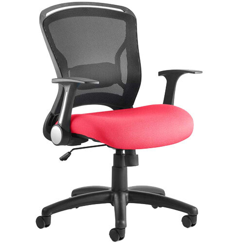 Zeus Task Operator Office Chair Cherry Red