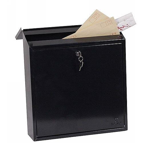 Phoenix Casa MB0111KB Top Loading Mail Box in Black with Key Lock Black