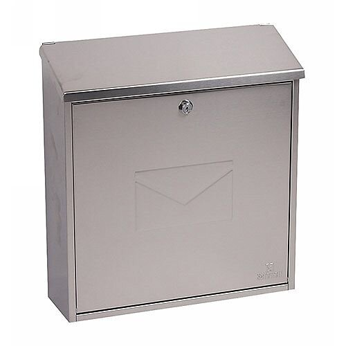 Phoenix Casa MB0111KS Front Loading Mail Box in Stainless Steel with Key Lock Stainless Steel