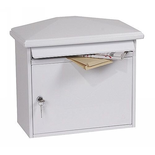 Phoenix Libro MB0115KW Front Loading Mail Box in White with Key Lock White